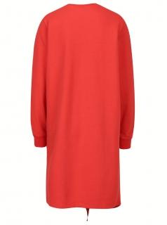 Puuvillane punane dresskleit