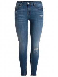Keskmise vöökohaga stretch teksapüksid