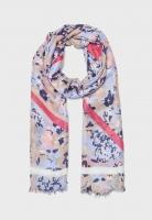 Тонкий шарф с узором в светло-голубых тонах