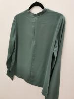 Шифоновая блузка, темно-зеленая