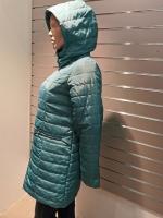 Naiste demi-hooajaline mantel kapuutsiga
