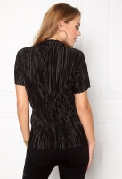 Plisseeritud pluus,must